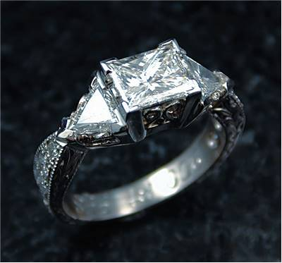 Diamond engagement ring history