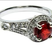 Ruby egagement ring picture
